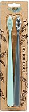 Kup Zestaw - The Natural Family Co Bio Brush Rivermint & Monsoon Mist (toothbrush/1pcs + toothbrush/1pcs)