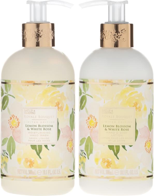 Zestaw do pielęgnacji ciała - Baylis & Harding Royale Bouquet Lemon Blossom & White Rose (b/lot 300 ml + soap 300 ml) — фото N2