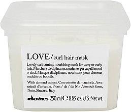 Kup Odżywcza maska do włosów falowanych i kręconych - Davines New Essential Haircare Love Curl Hair Mask