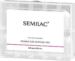 Kup Sztuczne paznokcie - Semilac Double Flex Acrylgel Dual Tips