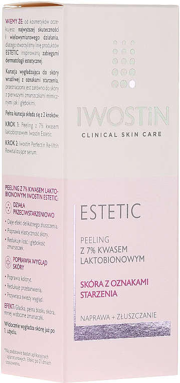 Peeling do twarzy z 7% kwasem laktobionowym - Iwostin Estetic Peeling 7% — фото N1