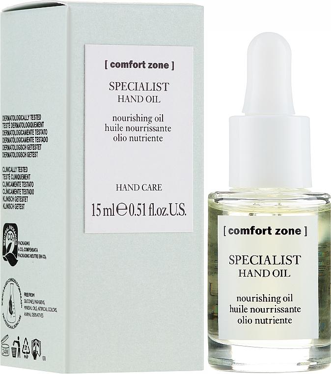 Odżywczy olejek do rąk i paznokci - Comfort Zone Specialist Hand Oil — фото N1