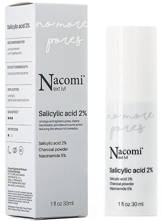 Serum do twarzy na noc z kwasem salicylowym 2% - Nacomi Next Level Salicylic Acid 2%