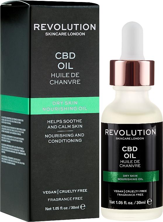 Odżywczy olejek kondycjonujący do twarzy - Revolution Skincare Nourishing CBD Oil — фото N1