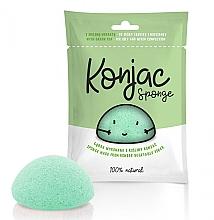 Kup Gąbka konjac do twarzy, zielona - Mipama Konjac Sponge