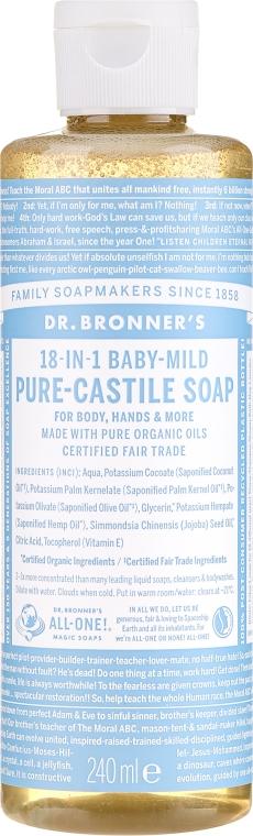 Mydło w płynie dla dzieci - Dr. Bronner's 18-in-1 Pure Castile Soap Baby-Mild — фото N3
