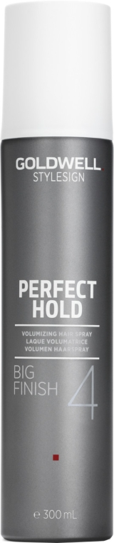 Lakier dodający włosom objętości - Goldwell Style Sign Perfect Hold Big Finish Volumizing Hairspray