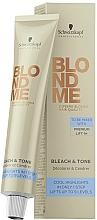 Kup PRZECENA! Neutralizujący krem tonujący do rozjaśniania włosów - Schwarzkopf Professional BlondMe Bleach & Tone *