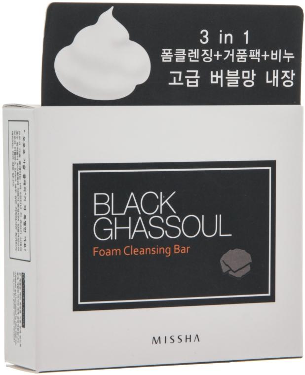 Mydło z marokańską glinką Ghassoul - Missha Black Ghassoul Foam Cleansing Bar