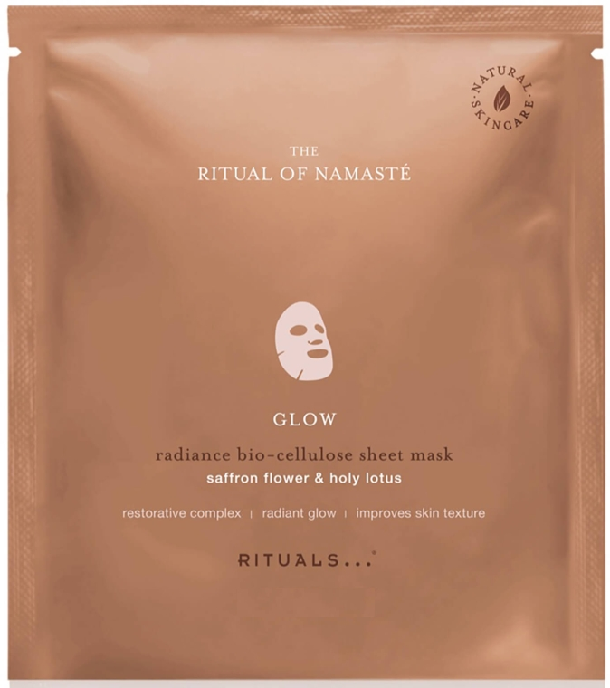 Maska na tkaninie do twarzy - Rituals The Ritual of Namaste Glow Radiance Sheet Mask — фото N1