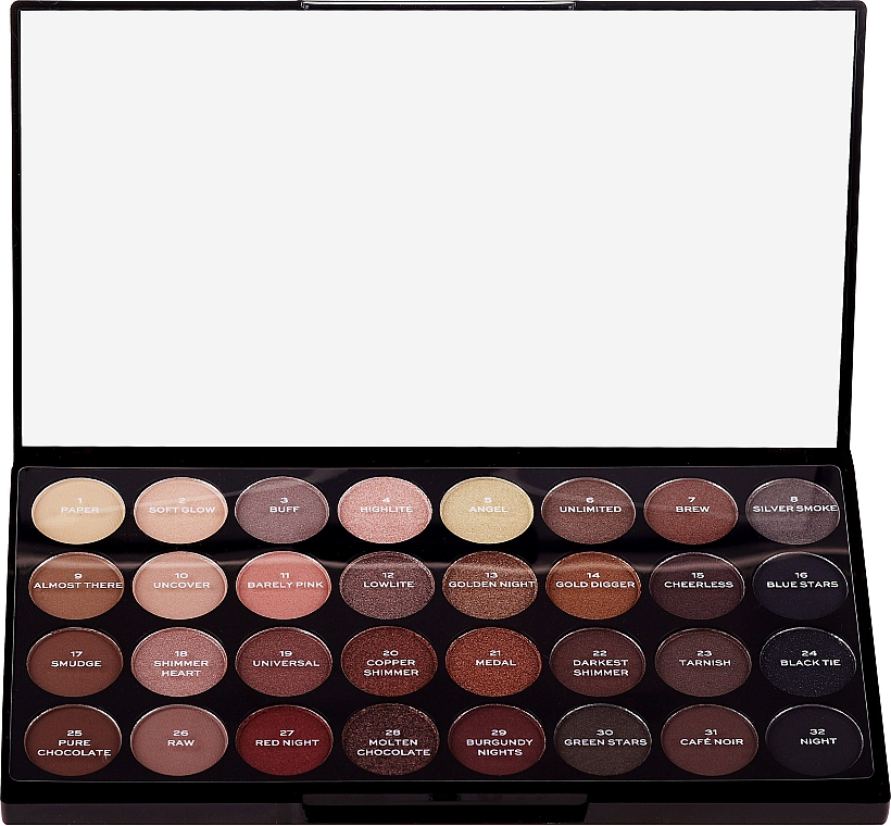 Paleta cieni do powiek - Makeup Revolution Ultra 32 Shade Palette Flawless