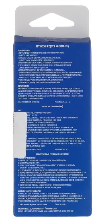 Sztuczne rzęsy na pasku z klejem 35531 - Top Choice — фото N2