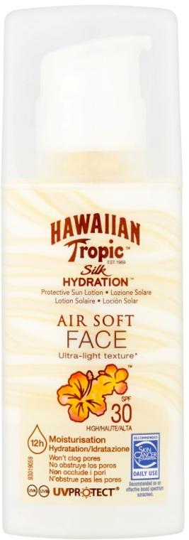 Nawilżający krem przeciwsłoneczny do twarzy SPF 50 - Hawaiian Tropic Silk Hydration Air Soft Face Protective Sun Lotion SPF 30 — фото N1