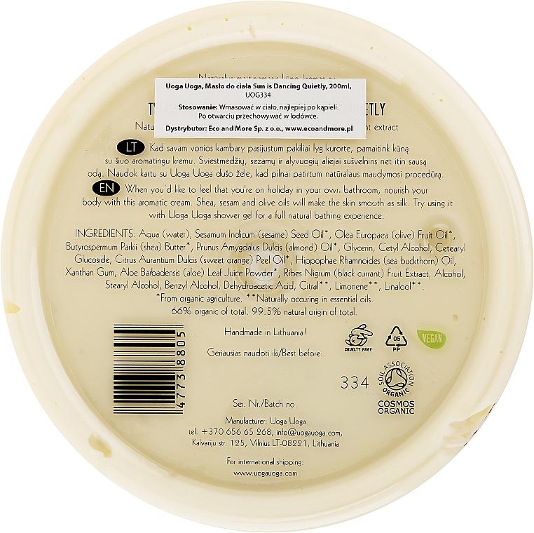Nawilżający krem do ciała z olejkiem pomarańczowym i ekstraktem z czarnej porzeczki - Uoga Uoga Moisturising Body Cream — фото N2