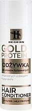 Kup Odżywka do włosów farbowanych i zniszczonych zabiegami fryzjerskimi - Hegron Gold Protein Hair Conditioner