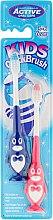 Kup Szczoteczki do zębów dla dzieci 3–6 lat, pingwiny, błękitna i różowa - Beauty Formulas Kids Quick Brush