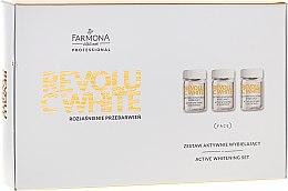 Kup Zestaw aktywnie wybielający - Farmona Professional Revolu C White Rozjaśnienie przebarwień (10 x conc 5 ml + 10 x mask/base 12 ml + 10 x activator 2 g)
