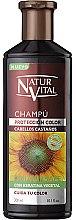 Kup Szampon utrwalający kolor włosów farbowanych - Natur Vital Coloursafe Henna Colour Shampoo Chestnut Hair