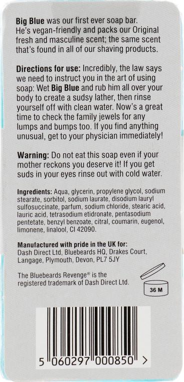 Mydło do twarzy i ciała dla mężczyzn - The Bluebeards Revenge Big Blue Bar of Soap For Blokes — фото N2