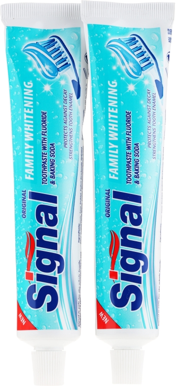 Zestaw - Signal Family Whitening Toothpaste (t/paste/2x100ml)