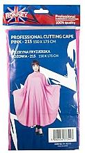 Kup Peleryna fryzjerska, różowa - Ronney Professional Cutting Cape