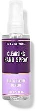 Kup Oczyszczający spray do rąk - Bath And Body Works Cleansing Hand Spray Black Cherry Merlot