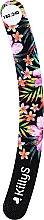 Kup Pilnik do paznokci 180/240, banan, czarny z kwiatami - KillyS Love Watermelon With Banana