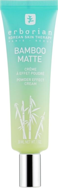 Matujący krem do twarzy - Erborian Bamboo Matte Powder Effect Cream — фото N2