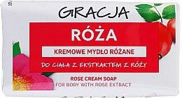 Kup Kremowe mydło różane w kostce - Gracja Rose Cream Soap With Rose Extract