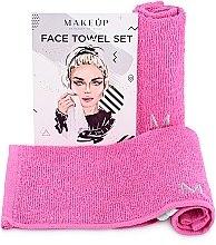 Kup Podróżny zestaw różowych ręczników do twarzy MakeTravel - Makeup