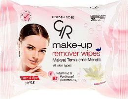 Kup Chusteczki do demakijażu twarzy i oczu - Golden Rose Extra Soft Make-up Remover Wipes