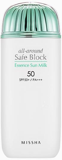 Nawilżające mleczko przeciwsłoneczne SPF 50+/PA+++ - Missha All-Around Safe Block Essence Sun Milk — фото N1