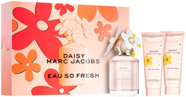 Marc Jacobs Daisy Eau So Fresh - Zestaw (edt/75ml + b/lot/75ml + sh/gel/75ml)