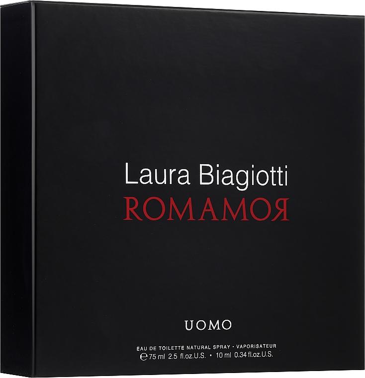Laura Biagiotti Romamor Uomo - Zestaw (edt/75ml + edt/10ml) — фото N1