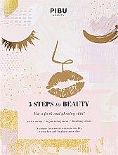 Kup Maska do twarzy 3 kroki do piękna Złoty lotos - Pibu Beauty 3 Steps To Beauty Mask