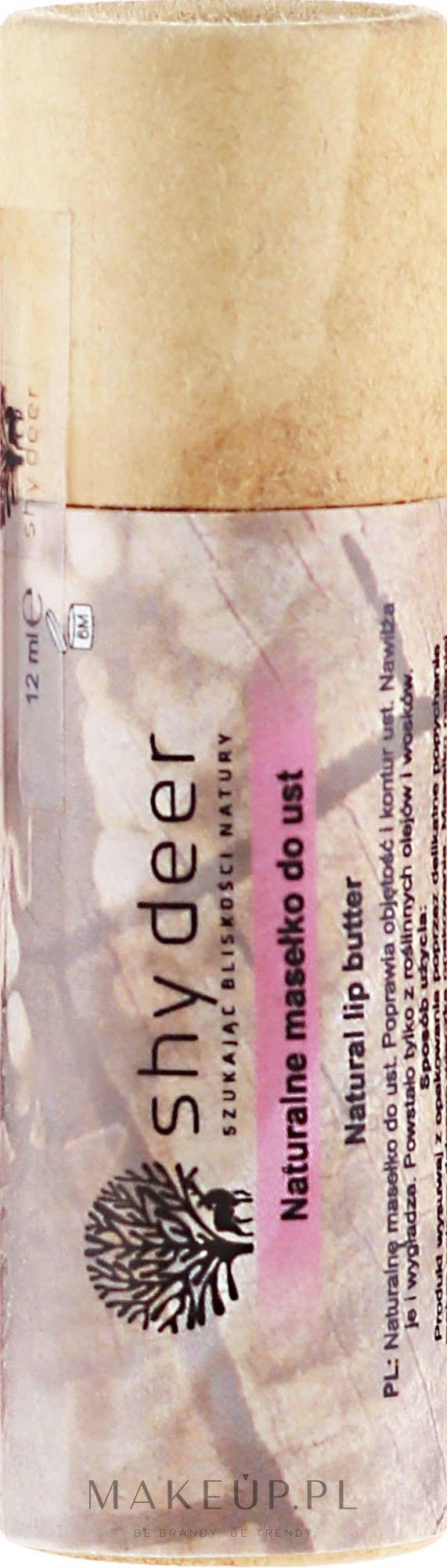 Naturalne masełko do ust - Shy Deer — фото 12 ml