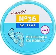 Kup Peelingująca sól morska do stóp 2 w 1 - Pharma CF No.36
