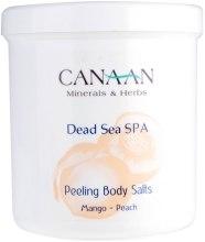 Kup Peeling solny do ciała Mango i brzoskwinia - Canaan Minerals & Herbs Peeling Body Salts Mango-Peach