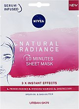 Kup 10-minutowa maska w płachcie do twarzy - Nivea Urban Skin Natural Radiance
