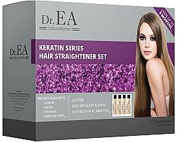 Kup Zestaw - Dr.EA Keratin Series Hair Straightener Set (hair/cr/130ml+shm/130ml+shm/130ml+mask/130ml)