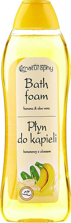 Płyn do kąpieli Banan i aloes - Bluxcosmetics Naturaphy Banana & Aloe Vera Bath Foam