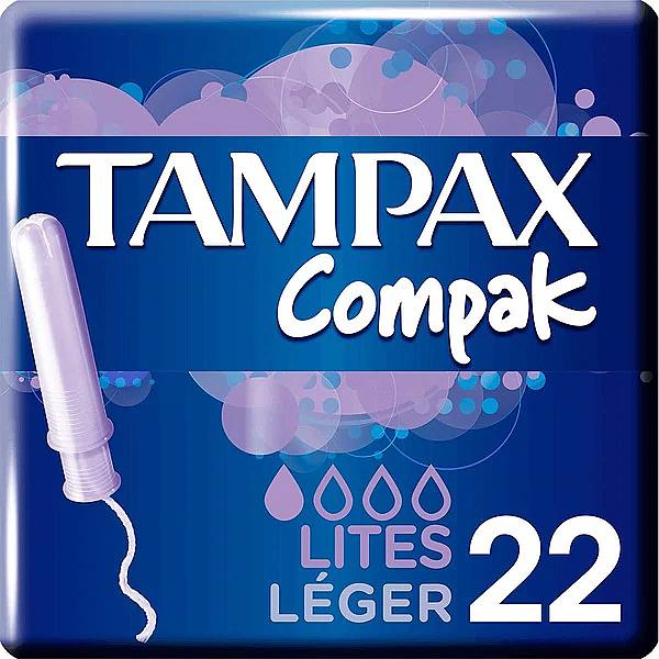 Tampony z aplikatorem, 22 szt. - Tampax Compak Light — фото N1