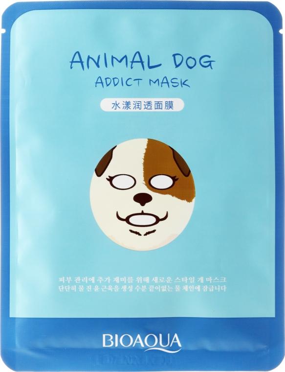 Maseczka na tkaninie do twarzy Pies - Bioaqua Animal Dog Addict Mask — фото N1