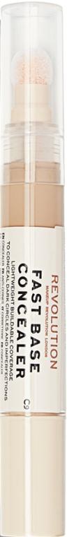Korektor do twarzy i pod oczy - Makeup Revolution Fast Base Concealer — фото N1
