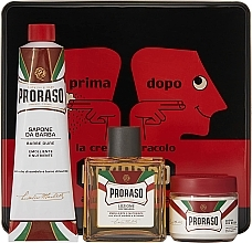 Kup Zestaw do golenia dla mężczyzn - Proraso Classic Shaving Metal Red Primadopo (bsh/cr 100 ml + shv/cr 150 ml + ash/cr 100 ml)