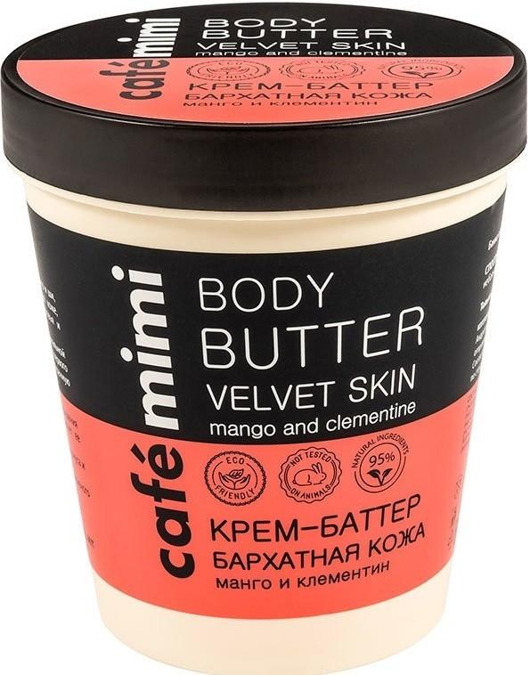 Krem-masło do ciała Aksamitna skóra Mango i klementynka - Cafe Mimi Body Butter