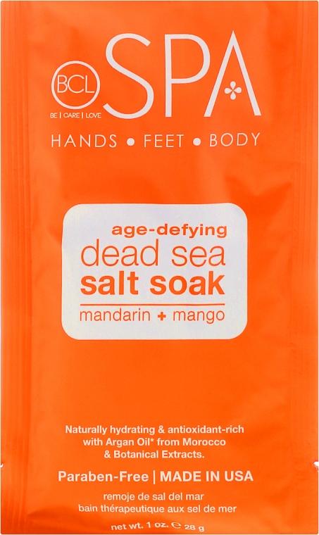 Zestaw - BCL Spa Mandarin + Mango Manicure & Pedicure Set (salt 14 g + scr 28 g + mask 15 ml + cr 15 ml) — фото N2