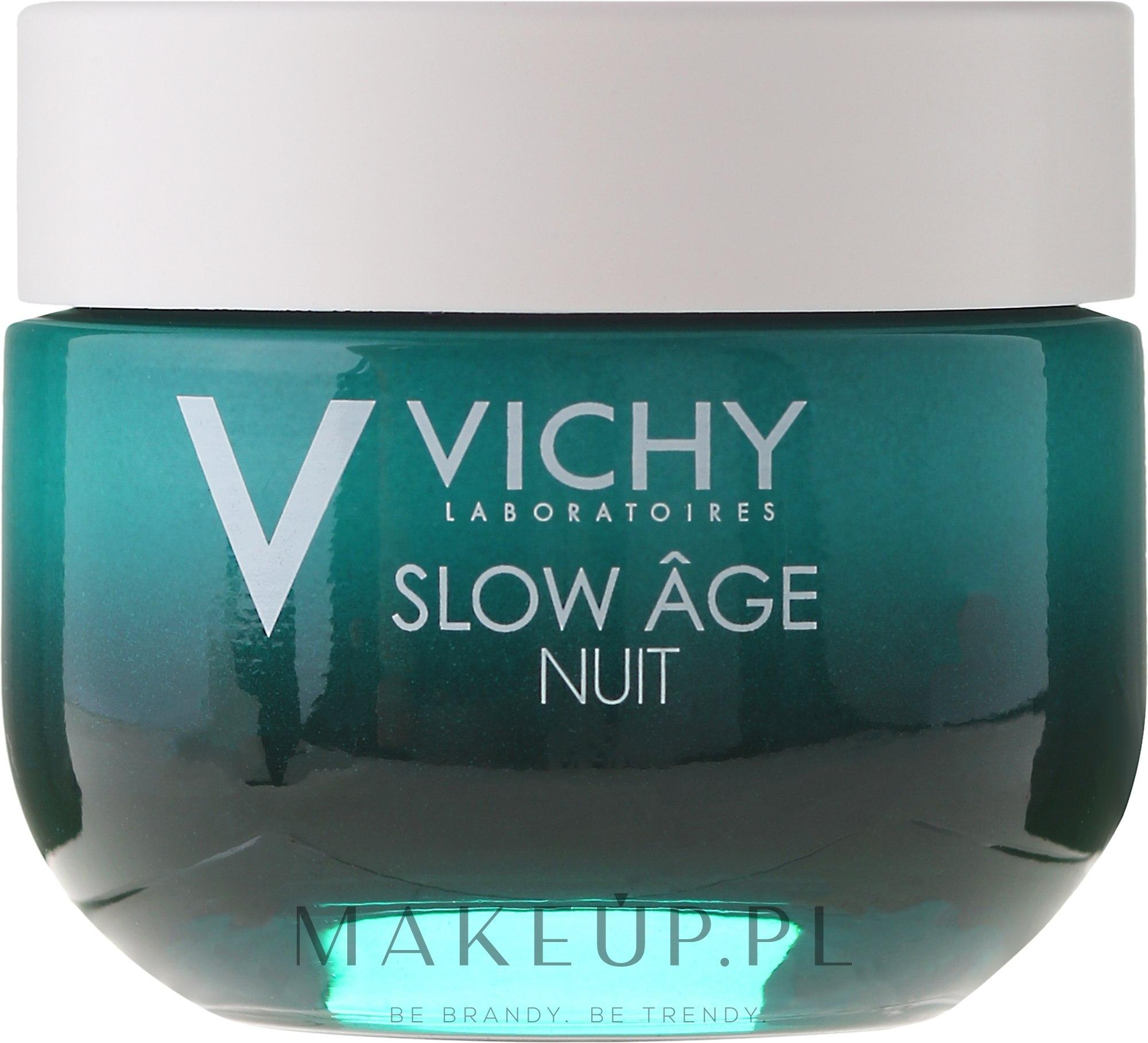 Krem i maska do twarzy na noc Dotlenienie i regeneracja - Vichy Slow Âge Night Cream & Mask — фото 50 ml