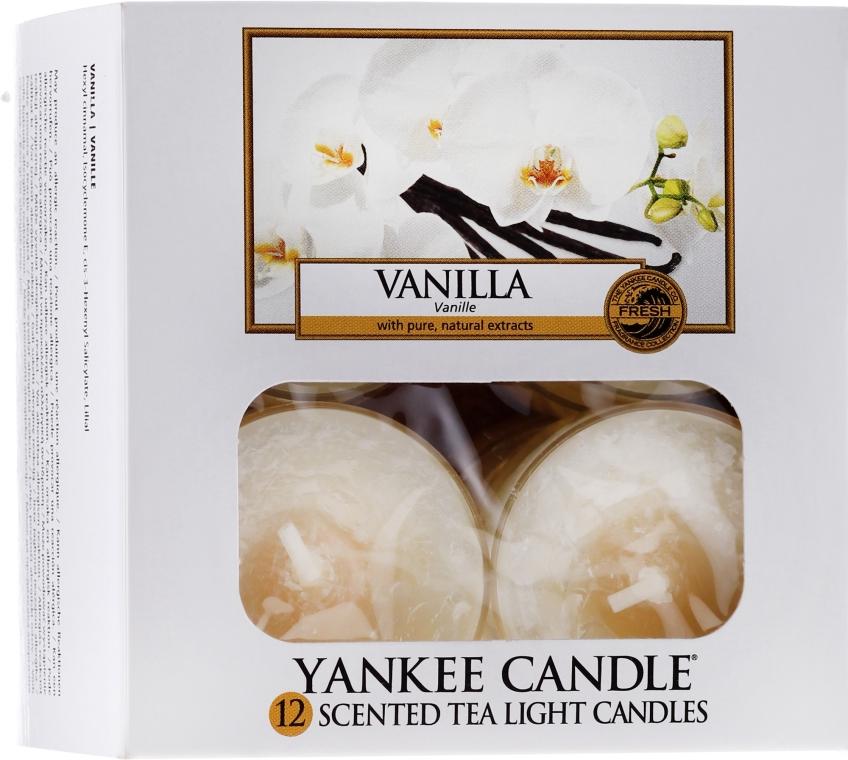 Podgrzewacze zapachowe tealight - Yankee Candle Scented Tea Light Candles Vanilla — фото N1