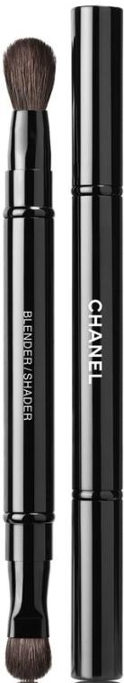 Dwustronny pędzel do cieni - Chanel Pinceau Duo Paupiries Retractable — фото N1